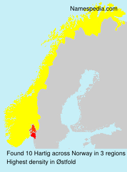 Surname Hartig in Norway