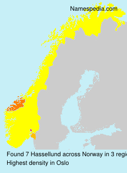 Surname Hassellund in Norway