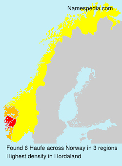 Surname Haufe in Norway