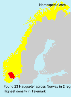Surname Haugseter in Norway