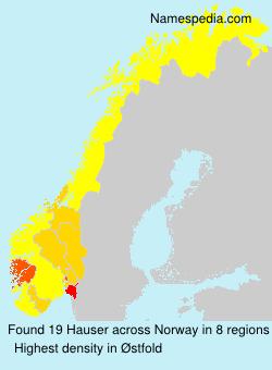 Familiennamen Hauser - Norway
