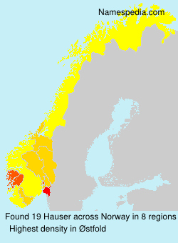 Surname Hauser in Norway