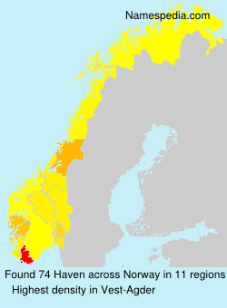 Surname Haven in Norway