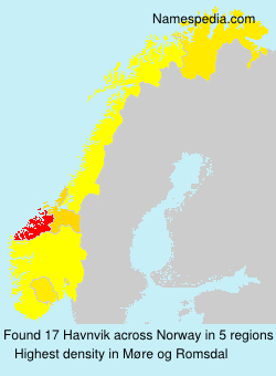 Surname Havnvik in Norway