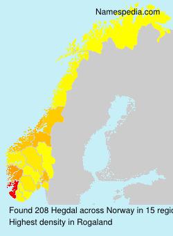 Surname Hegdal in Norway
