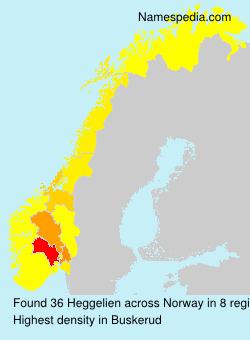 Familiennamen Heggelien - Norway