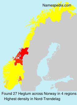 Familiennamen Heglum - Norway