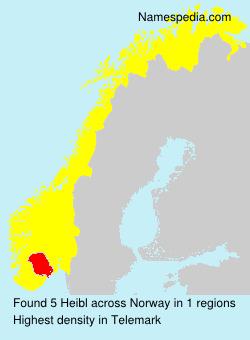 Surname Heibl in Norway