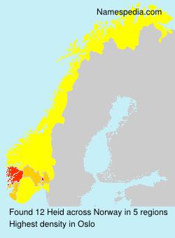 Surname Heid in Norway