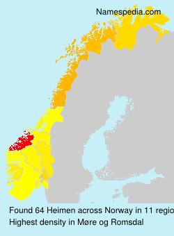 Surname Heimen in Norway