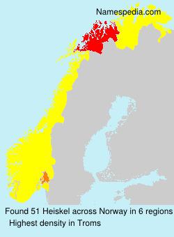 Familiennamen Heiskel - Norway