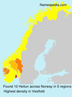 Familiennamen Heitun - Norway