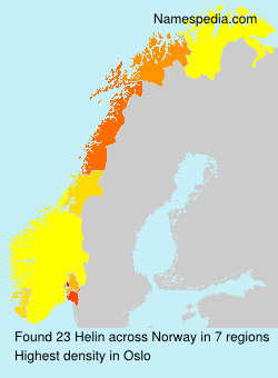 Surname Helin in Norway