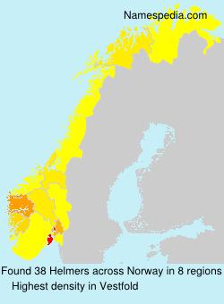 Surname Helmers in Norway