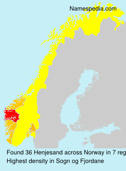 Surname Henjesand in Norway