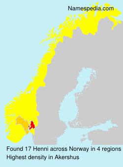 Surname Henni in Norway