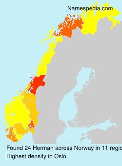 Surname Herman in Norway
