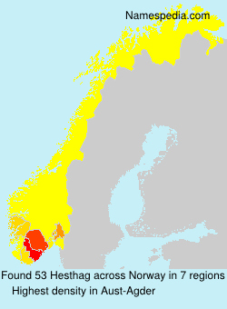 Surname Hesthag in Norway