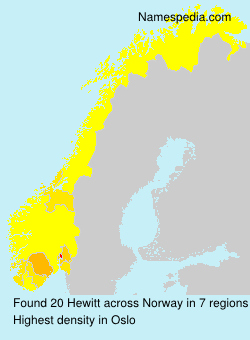 Surname Hewitt in Norway