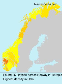 Surname Heydari in Norway