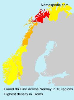 Surname Hind in Norway
