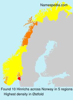 Surname Hinrichs in Norway