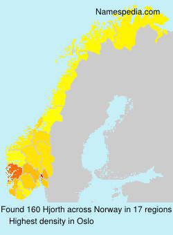 Surname Hjorth in Norway
