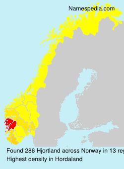Surname Hjortland in Norway
