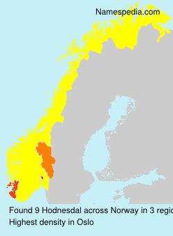 Surname Hodnesdal in Norway