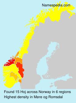 Familiennamen Hoj - Norway