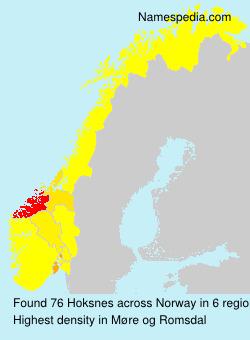 Familiennamen Hoksnes - Norway