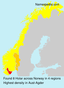 Surname Holar in Norway