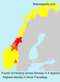 Surname Holsing in Norway