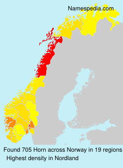 Surname Horn in Norway