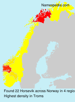 Surname Horsevik in Norway