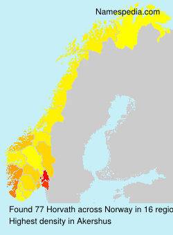 Surname Horvath in Norway