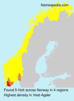 Surname Hott in Norway