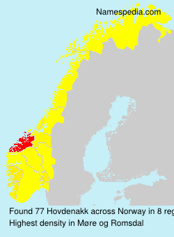 Surname Hovdenakk in Norway