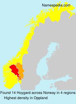 Surname Hoygard in Norway