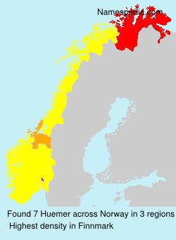 Surname Huemer in Norway