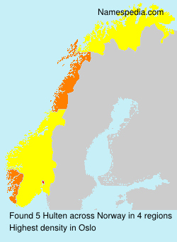 Surname Hulten in Norway