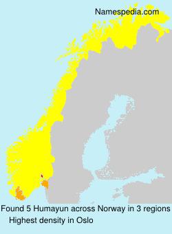 Familiennamen Humayun - Norway