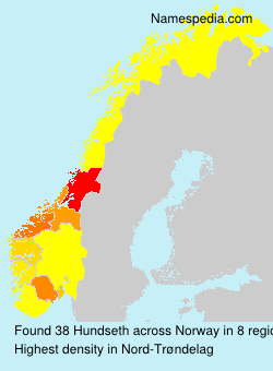 Surname Hundseth in Norway
