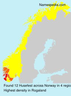 Surname Husefest in Norway