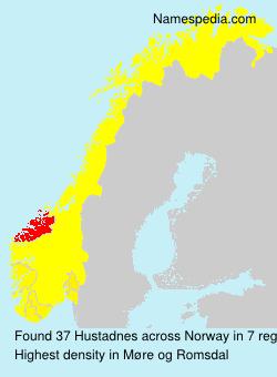 Surname Hustadnes in Norway