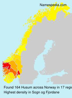 Surname Husum in Norway