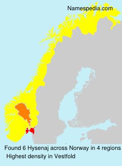Surname Hysenaj in Norway
