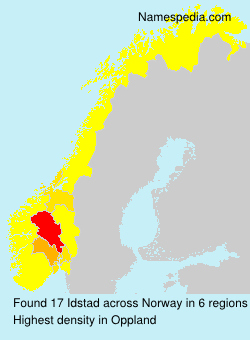 Surname Idstad in Norway