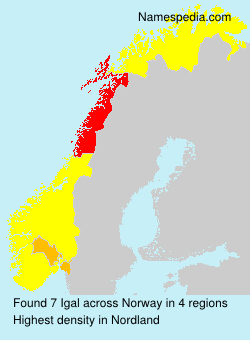 Surname Igal in Norway