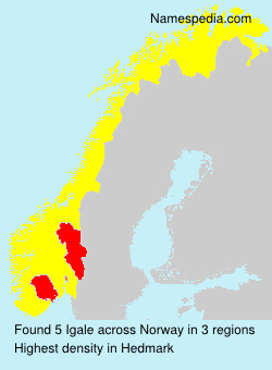 Surname Igale in Norway